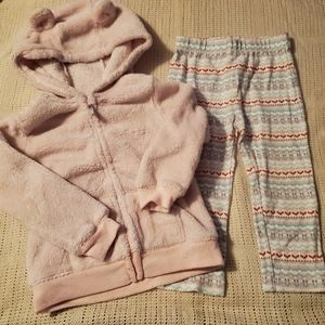 24m Carter's fleece zip up hoodie and leggings